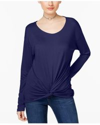 INC International Concepts - Blue Knotted Top - Lyst