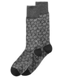 Calvin Klein - Gray Men's Floral-print Socks for Men - Lyst