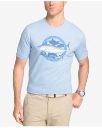 Izod | Blue Men's Graphic Print T-shirt for Men | Lyst