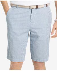 Izod Blue Men's Sandy Bay Seersucker Shorts for men
