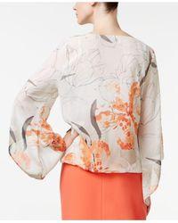 Alfani - Multicolor Petite Printed Angel-sleeve Top - Lyst