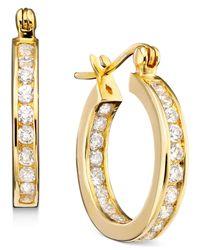 Giani Bernini | Metallic 18k Gold Over Sterling Silver Cubic Zirconia Hoop Earrings (2-1/3 Ct. T.w.) | Lyst