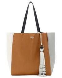 Vince Camuto | Brown Nylan Tasseled Color Block Small Tote | Lyst