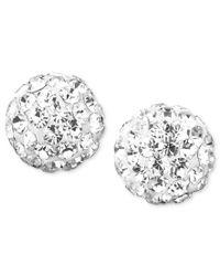 Macy's - Metallic Teardrop Chandelier Earrings In 10k White Gold - Lyst