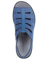 Easy Street Blue Solite Floaty Sandals