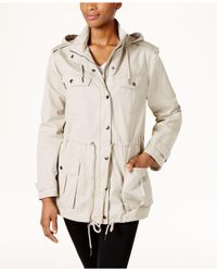 G.H. Bass & Co. | Natural Cotton Hooded Utility Jacket | Lyst