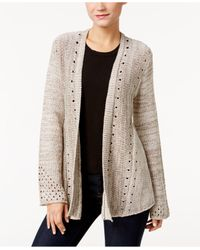 Style & Co. | Natural Petite Cozy Swing Cardigan | Lyst