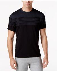 Alfani | Black Men's Top-striped T-shirt for Men | Lyst