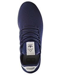 Adidas Blue Men's Originals Pharrell Williams Tennis Hu Casual Sneakers From Finish Line for men