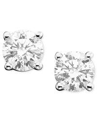 Macy's | Diamond Stud Earrings (3/4 Ct. T.w.) In 14k White Gold Or Gold | Lyst