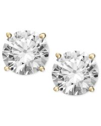 Macy's | Metallic Diamond Stud Earrings In 14k White Gold Or Gold (1-1/2 Ct. T.w.) | Lyst