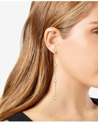 INC International Concepts - Metallic I.n.c. Gold-tone Ball & Crystal Linear Drop Earrings, Created For Macy's - Lyst