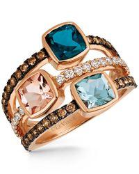 Le Vian | Metallic Multi-gemstone (2-1/4 Ct. T.w.) And Diamond (5/8 Ct. T.w.) Ring In 14k Rose Gold | Lyst