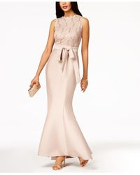 0d8aef8d2e40f Lyst - R   M Richards Sequined-lace-top Mermaid Gown in Pink