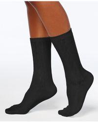 Hue - Black Women's Pointelle Boot Socks - Lyst