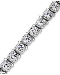 Macy's Metallic Diamond Tennis Bracelet In 14k White Gold (8 Ct. T.w.)