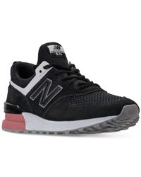 New Balance Black 574 Sport Casual Sneakers From Finish Line for men