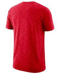 Nike Red Ohio State Buckeyes Dri-fit Cotton Slub T-shirt for men