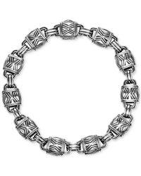 Scott Kay Metallic Men's Decorative Link Bracelet In Sterling Silver