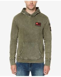 Buffalo David Bitton - Green Men's Vintage Pullover Hoodie for Men - Lyst