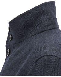 BOSS Blue Relaxed-fit Herringbone Car Coat for men