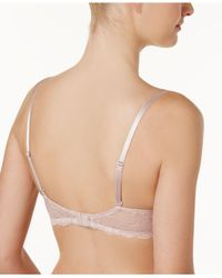Calvin Klein - Natural Seductive Comfort Push-up Add-a-size Bra Qf1446 - Lyst