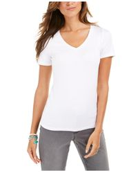 Style & Co. White V-neck T-shirt, Created For Macy