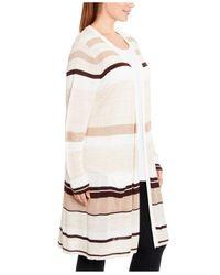 Joseph A Multicolor Plus Size Striped Duster Cardigan