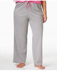 Hue - Pink Plus Size Knit Pajama Pants - Lyst