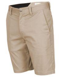Volcom - Natural Men's Frickin Mod Stretch Shorts for Men - Lyst