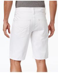 INC International Concepts | Men's Ripped White Wash Jean Shorts for Men | Lyst