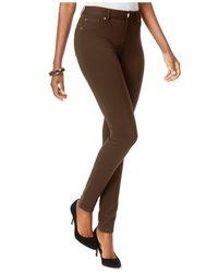INC International Concepts Natural Curvy Ponte Skinny Pants