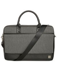 Knomo | Black Herringbone Laptop Briefcase for Men | Lyst