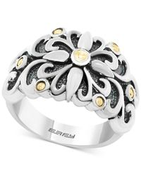 Effy Collection - Metallic Flower Ring In Sterling Silver And 18k Gold - Lyst