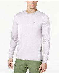 Tommy Hilfiger White Eric Long-sleeve T-shirt, Created For Macy's for men