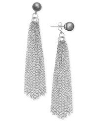 INC International Concepts - Metallic Imitation Pearl Tassel Drop Earrings - Lyst