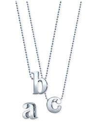 Alex Woo Metallic Initial Pendant Necklace In Sterling Silver