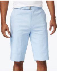 Sean John | Blue Men's Big & Tall Belted Flight Shorts for Men | Lyst