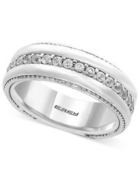 Effy Collection | Metallic Men's White Sapphire Band (1 Ct. T.w.) In Sterling Silver for Men | Lyst