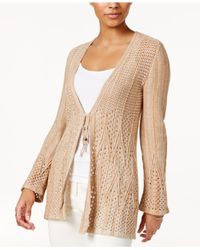 Style & Co. | Natural Petite Crochet Cardigan | Lyst