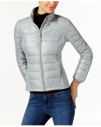 32 Degrees | Gray Short Packable Down Puffer Coat | Lyst