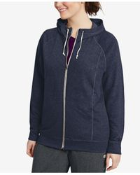 Champion Blue Plus Size French Terry Full-zip Jacket