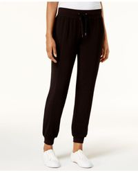 Style & Co.   Black Drawstring Jogger Pants   Lyst