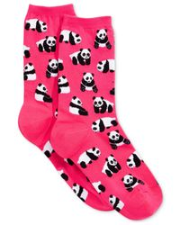 Hot Sox | Pink Women's Panda Bear Socks | Lyst