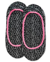 Calvin Klein - Black Women's Repeat Logo Socks - Lyst