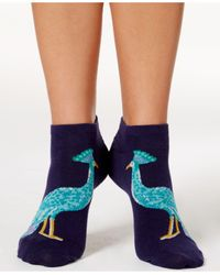 kate spade new york | Blue Women's Regal Peacock No-show Socks | Lyst