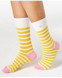 Kate Spade | Yellow Women's Saturday Stripe Socks | Lyst