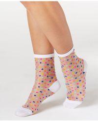kate spade new york | White Women's Multi Dots Crew Socks | Lyst