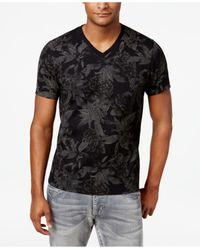 INC International Concepts   Black Men's V-neck Floral T-shirt for Men   Lyst