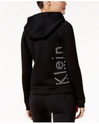 Calvin Klein - Black Logo Zip Scuba Hoodie - Lyst